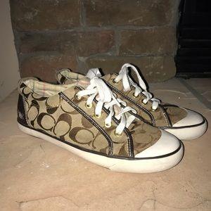 Coach Women's Shoes Barrett Jacquard Size 8B Brown
